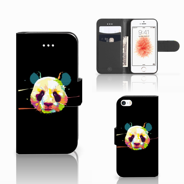 Apple iPhone 5 | 5s | SE Leuk Hoesje Panda Color