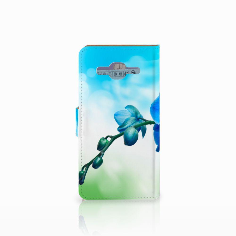Samsung Galaxy J2 2016 Hoesje Orchidee Blauw