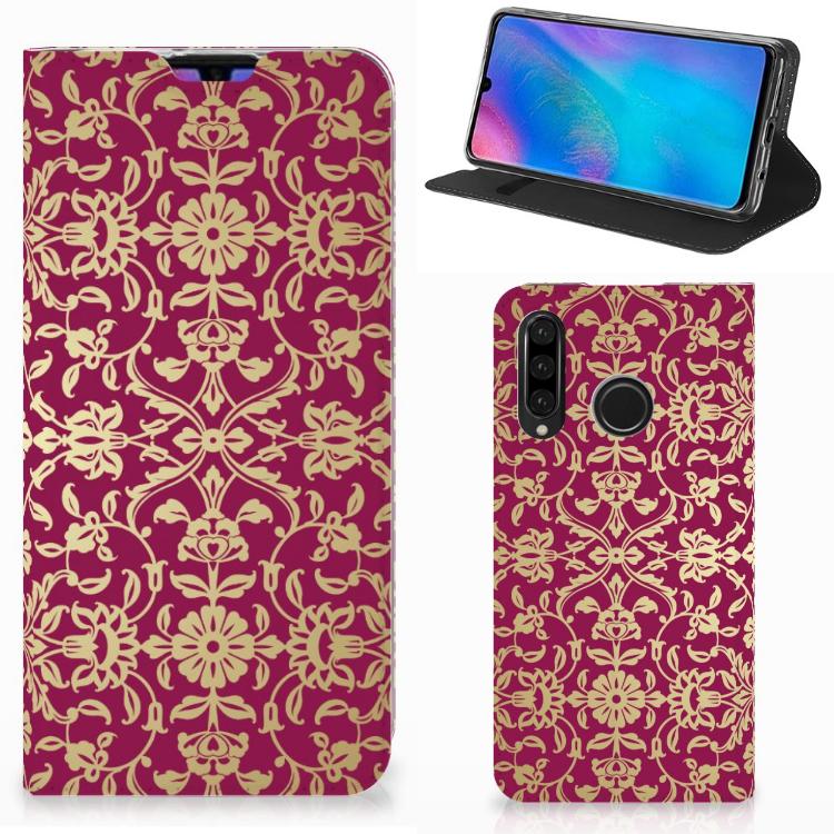 Telefoon Hoesje Huawei P30 Lite New Edition Barok Pink