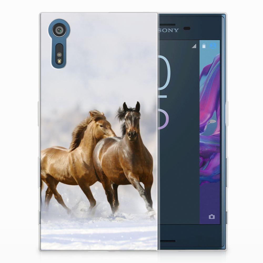 Sony Xperia XZs | XZ TPU Hoesje Paarden