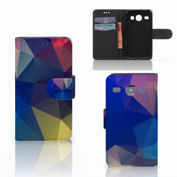 Samsung Galaxy Core i8260 Bookcase Polygon Dark