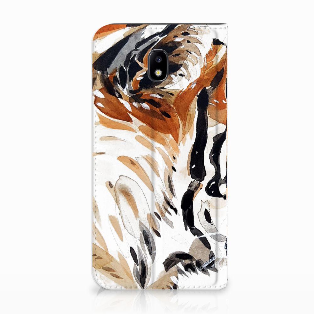 Samsung Galaxy J5 2017 Uniek Standcase Hoesje Watercolor Tiger