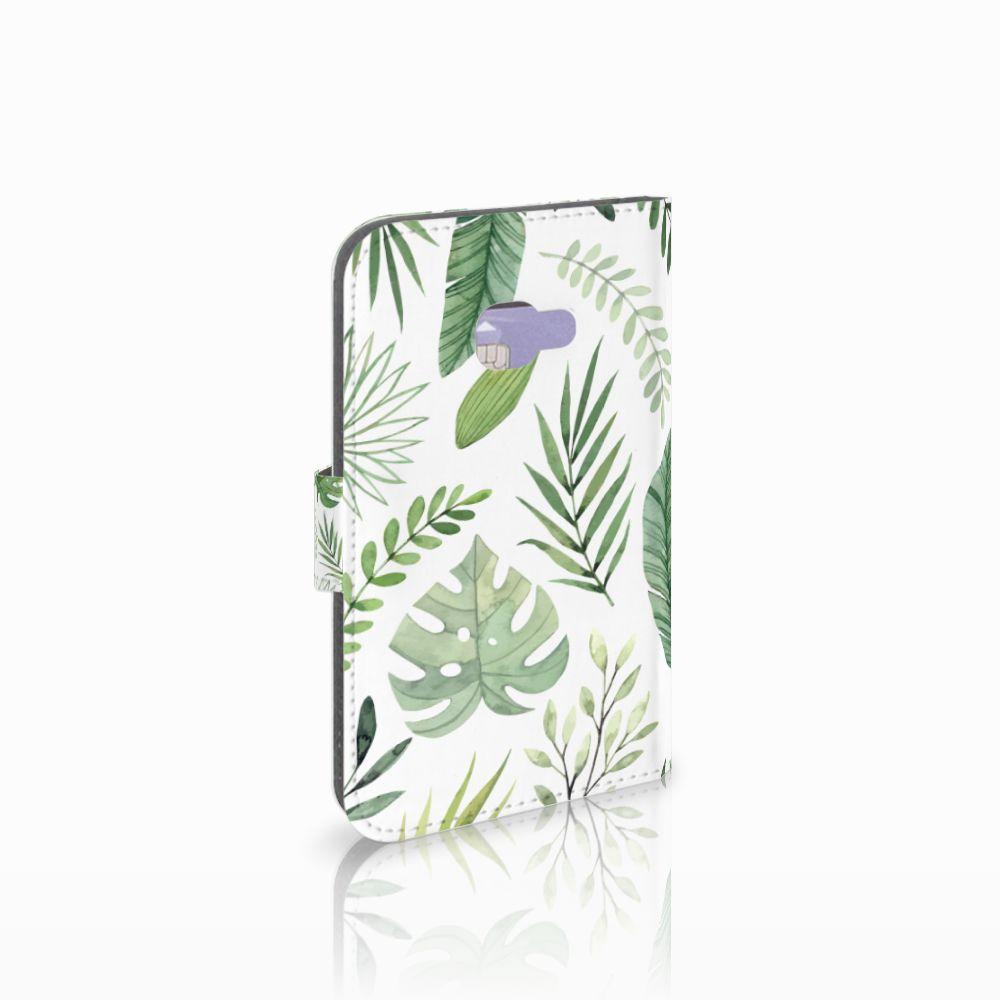 Samsung Galaxy Xcover 4 Uniek Boekhoesje Leaves