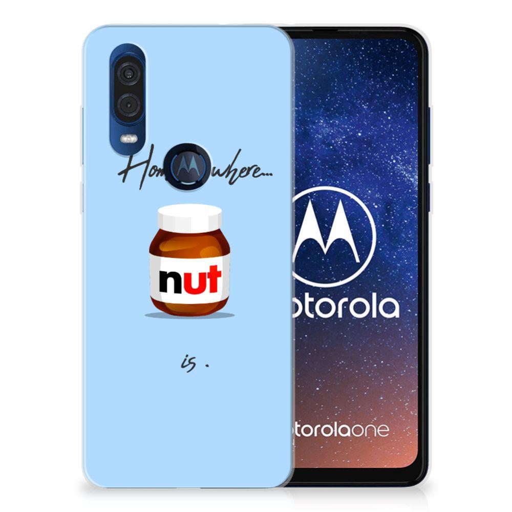 Motorola One Vision Siliconen Case Nut Home