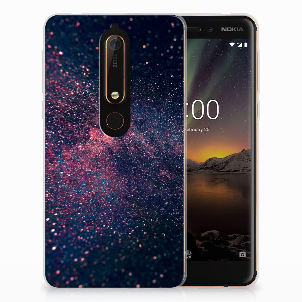 Nokia 6 (2018) TPU Hoesje Stars