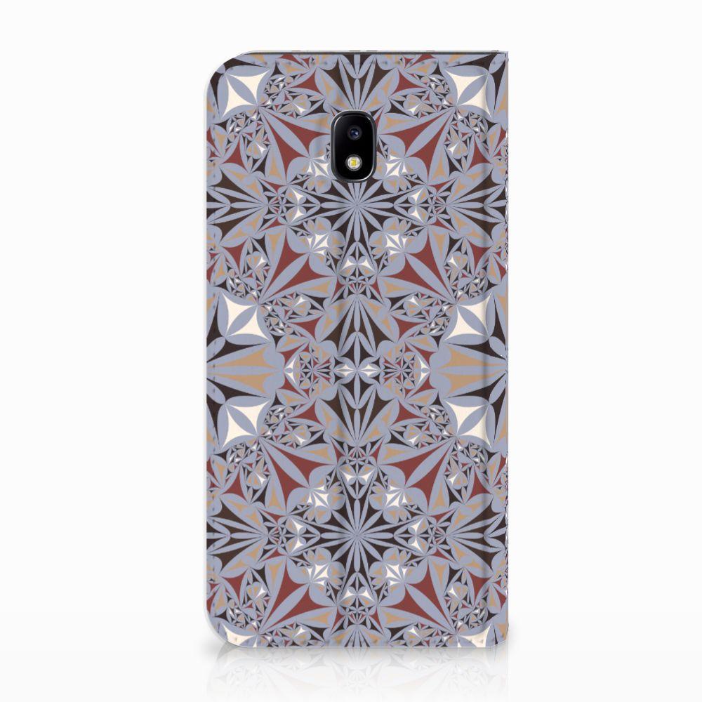 Samsung Galaxy J5 2017 Standcase Hoesje Design Flower Tiles