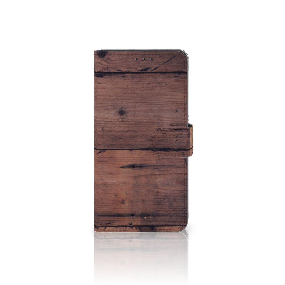 Samsung Galaxy A8 Plus (2018) Uniek Boekhoesje Old Wood
