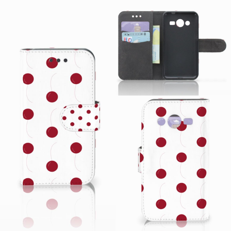 Samsung Galaxy Core 2 Book Cover Cherries