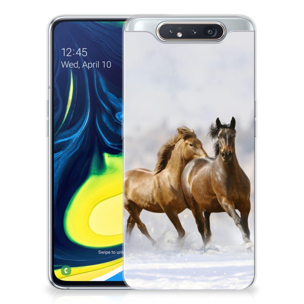 Samsung Galaxy A80 TPU Hoesje Paarden