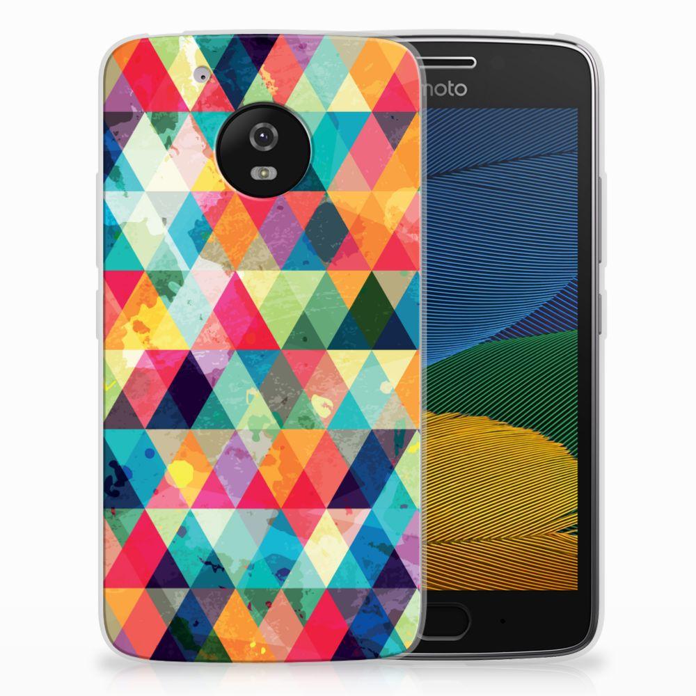 Motorola Moto G5 Uniek TPU Hoesje Geruit