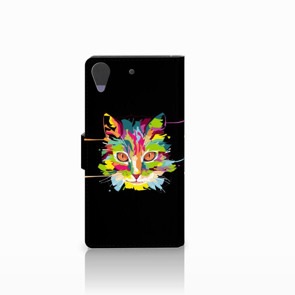 HTC Desire 628 Leuke Hoesje Cat Color