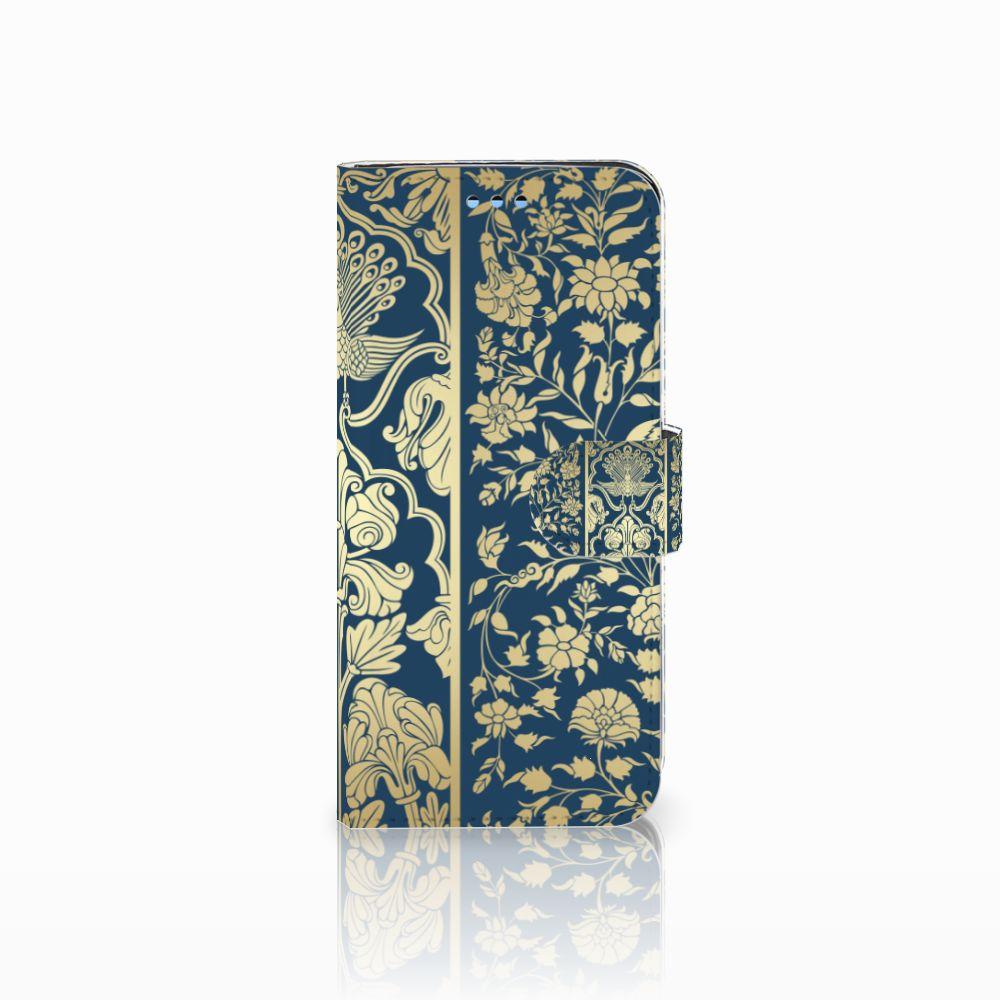Samsung Galaxy S9 Uniek Boekhoesje Golden Flowers