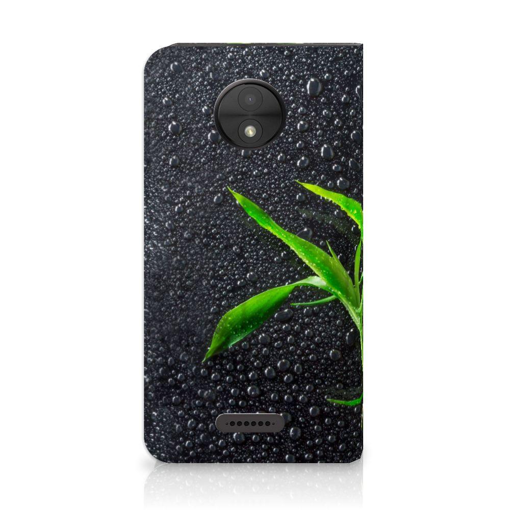 Motorola Moto C Standcase Hoesje Design Orchidee
