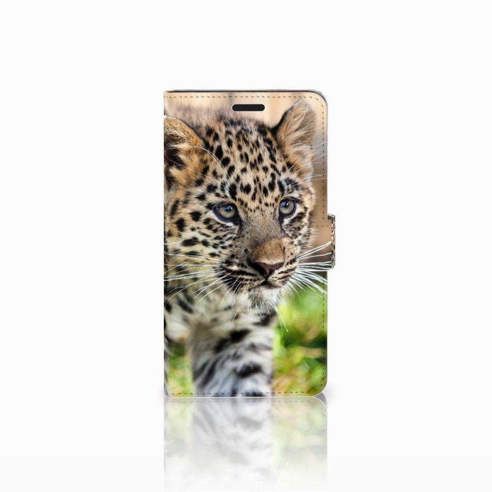Sony Xperia T3 Uniek Boekhoesje Baby Luipaard