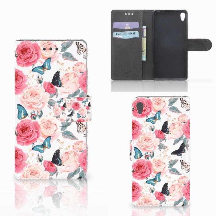 Sony Xperia E5 Hoesje Butterfly Roses