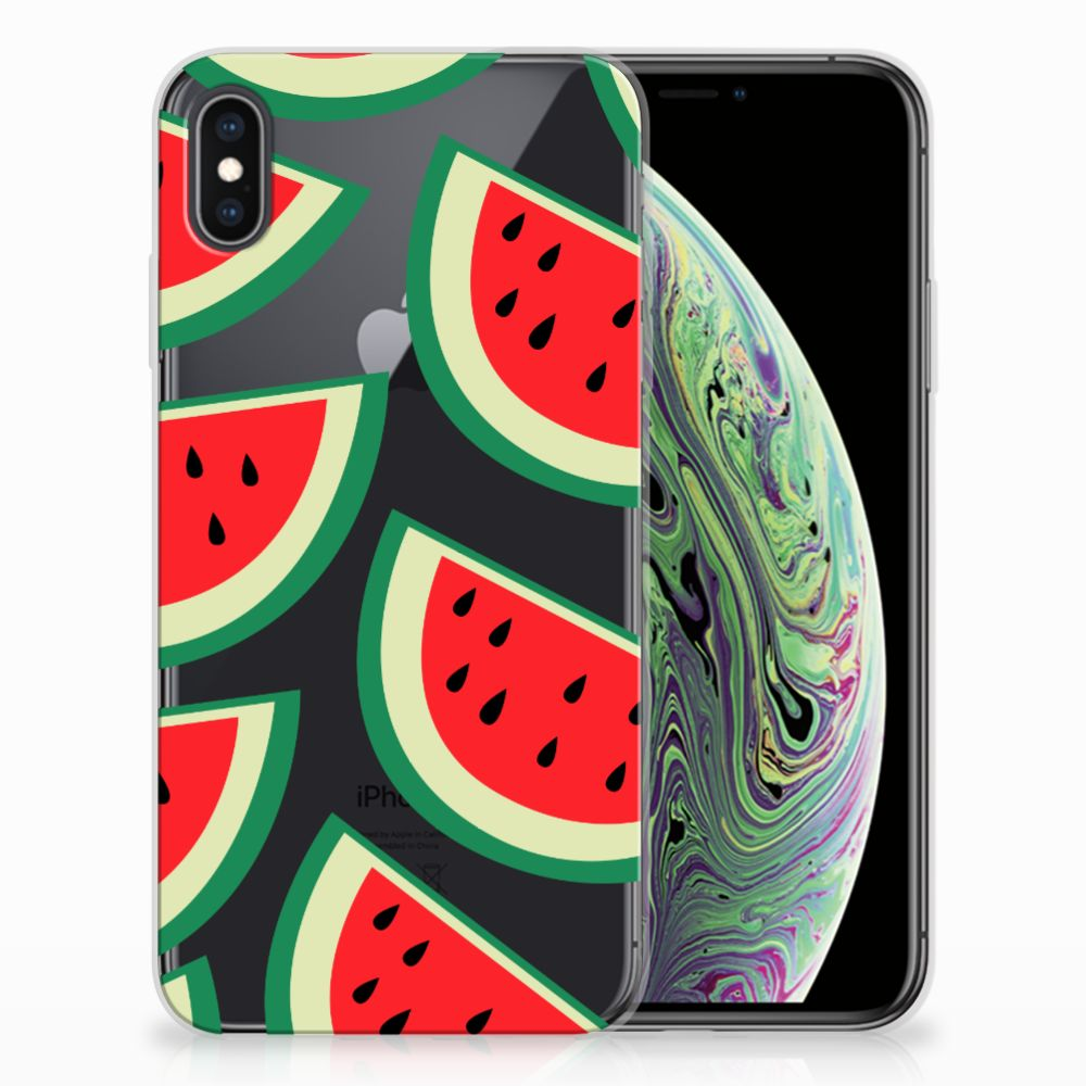 Apple iPhone Xs Max Siliconen Case Watermelons
