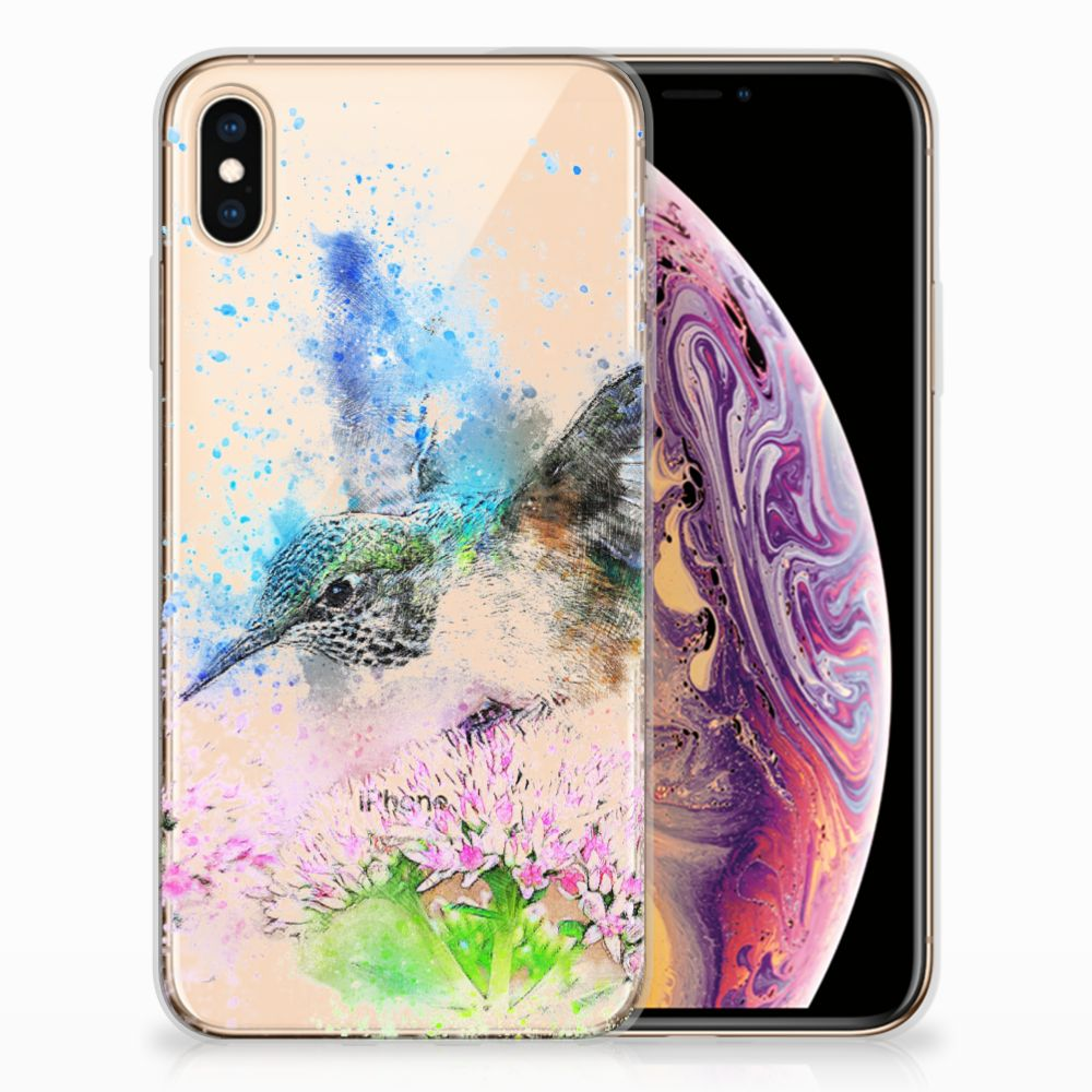 Apple iPhone Xs Max TPU Hoesje Design Vogel