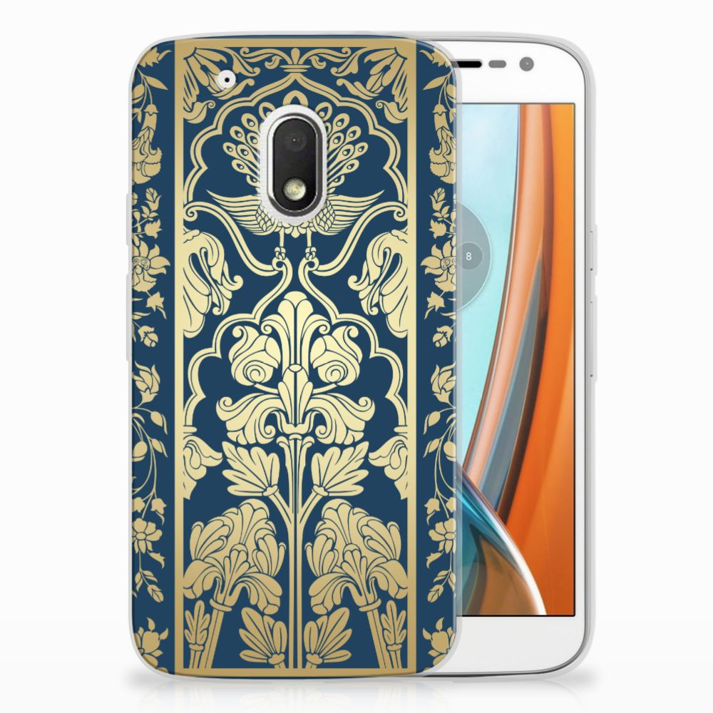 Motorola Moto G4 Play Uniek TPU Hoesje Golden Flowers