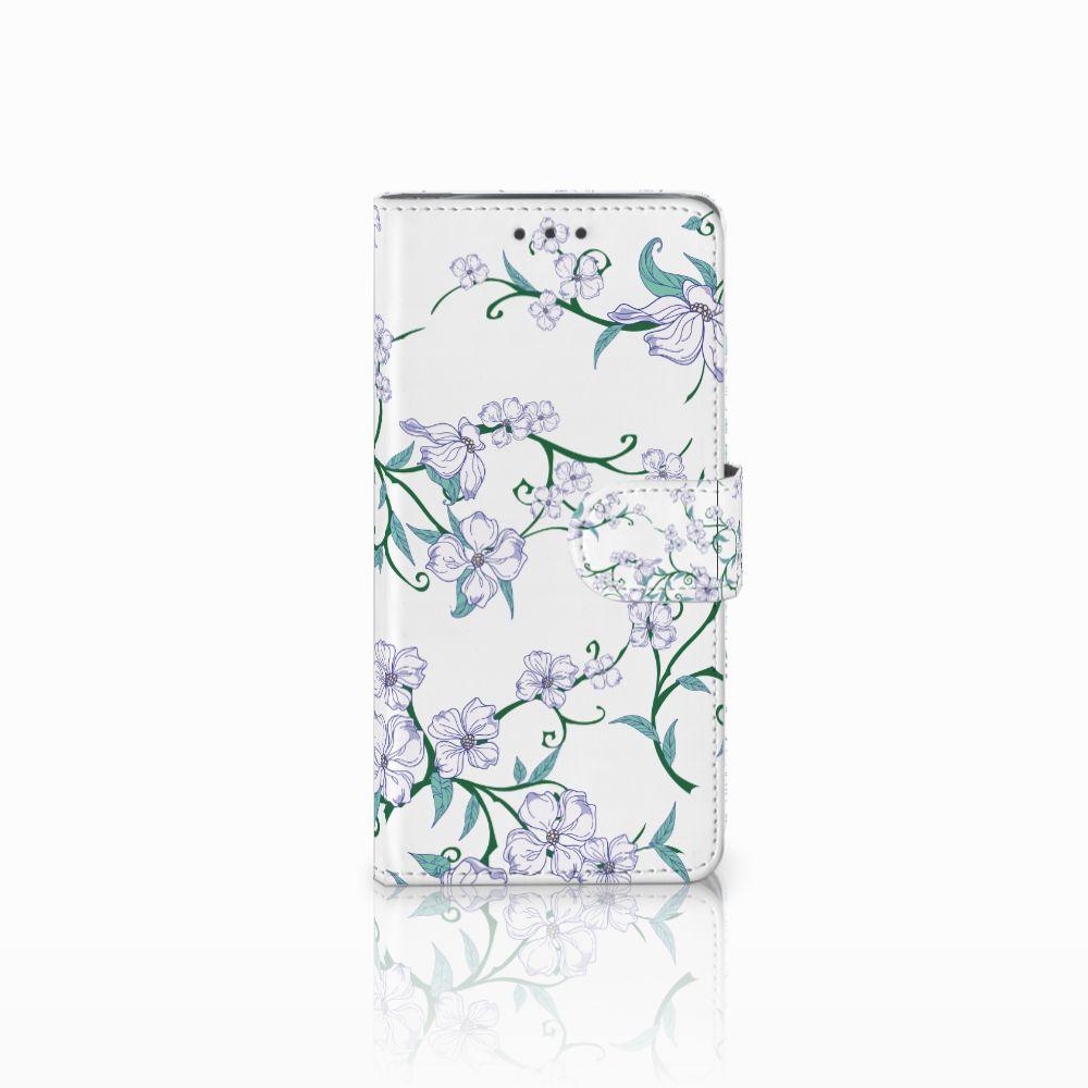 Motorola Moto X4 Uniek Boekhoesje Blossom White