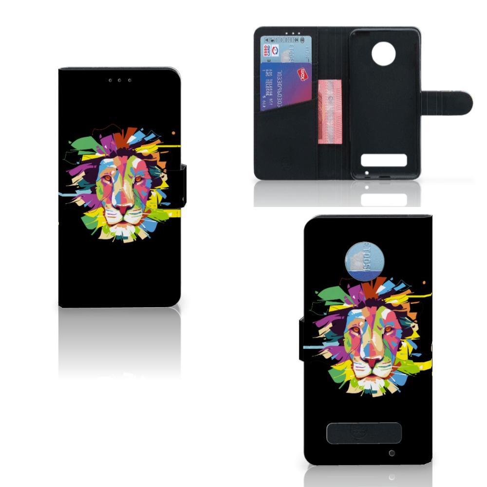 Motorola Moto Z Play Leuk Hoesje Lion Color