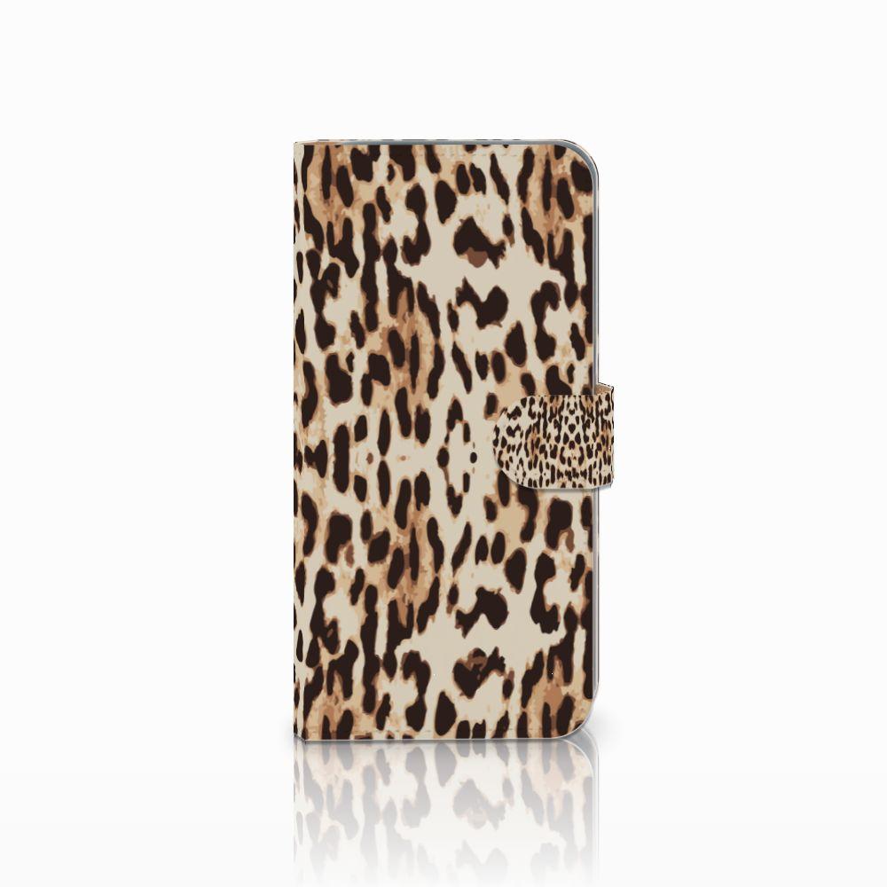 HTC Desire 10 Pro Uniek Boekhoesje Leopard