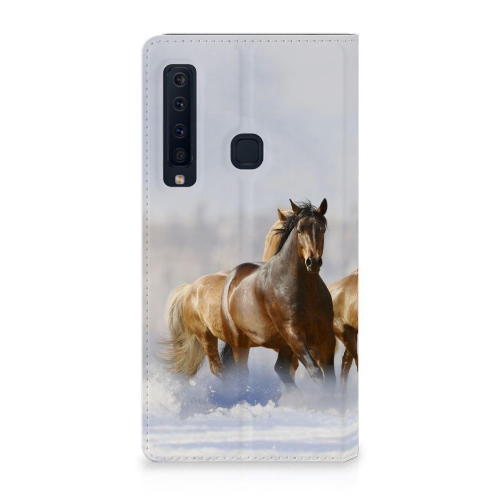 Samsung Galaxy A9 (2018) Uniek Standcase Hoesje Paarden