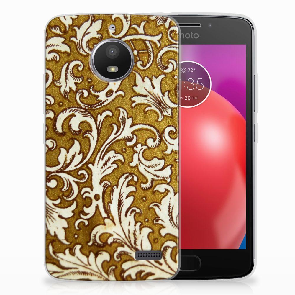 Motorola Moto E4 TPU Hoesje Design Barok Goud