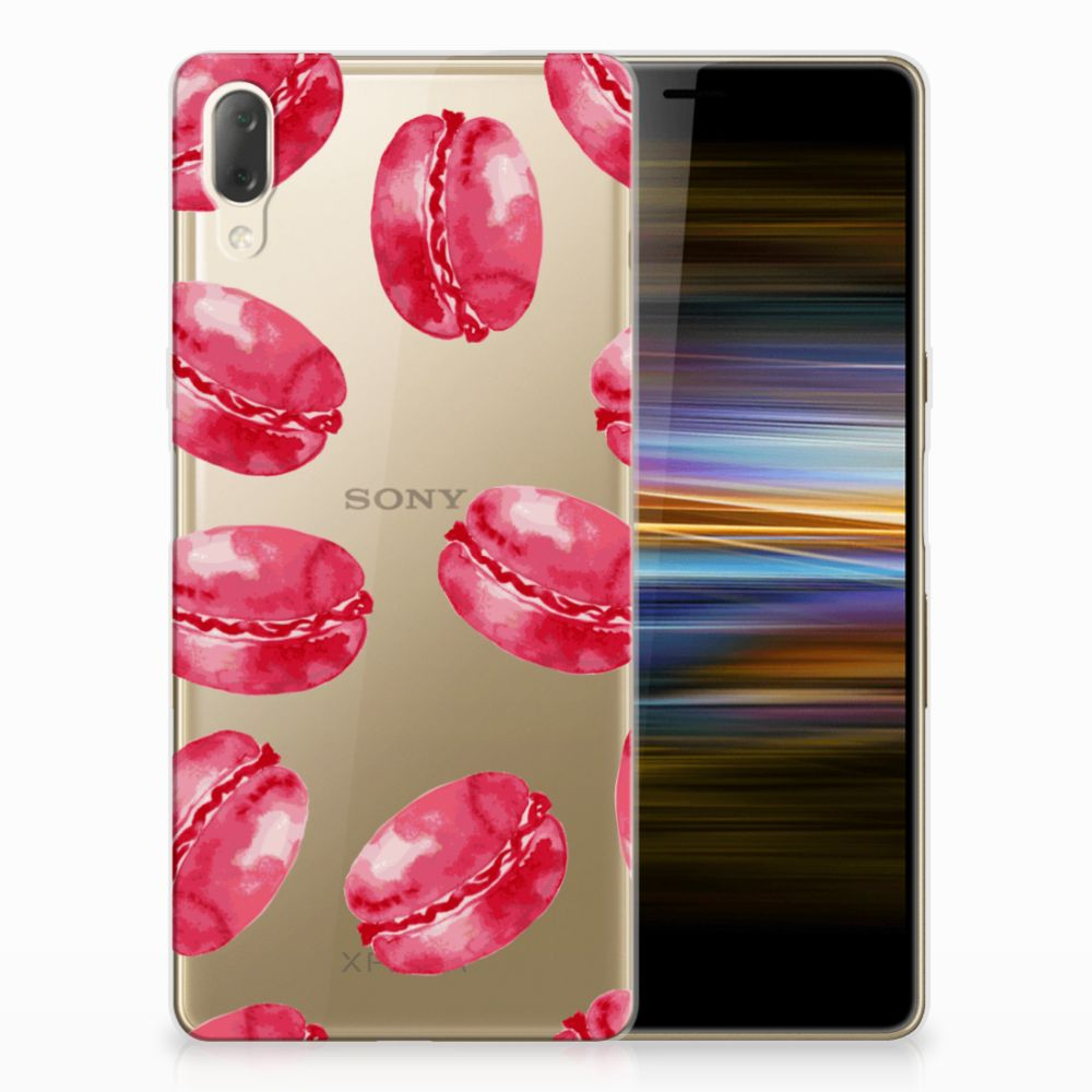 Sony Xperia L3 Siliconen Case Pink Macarons