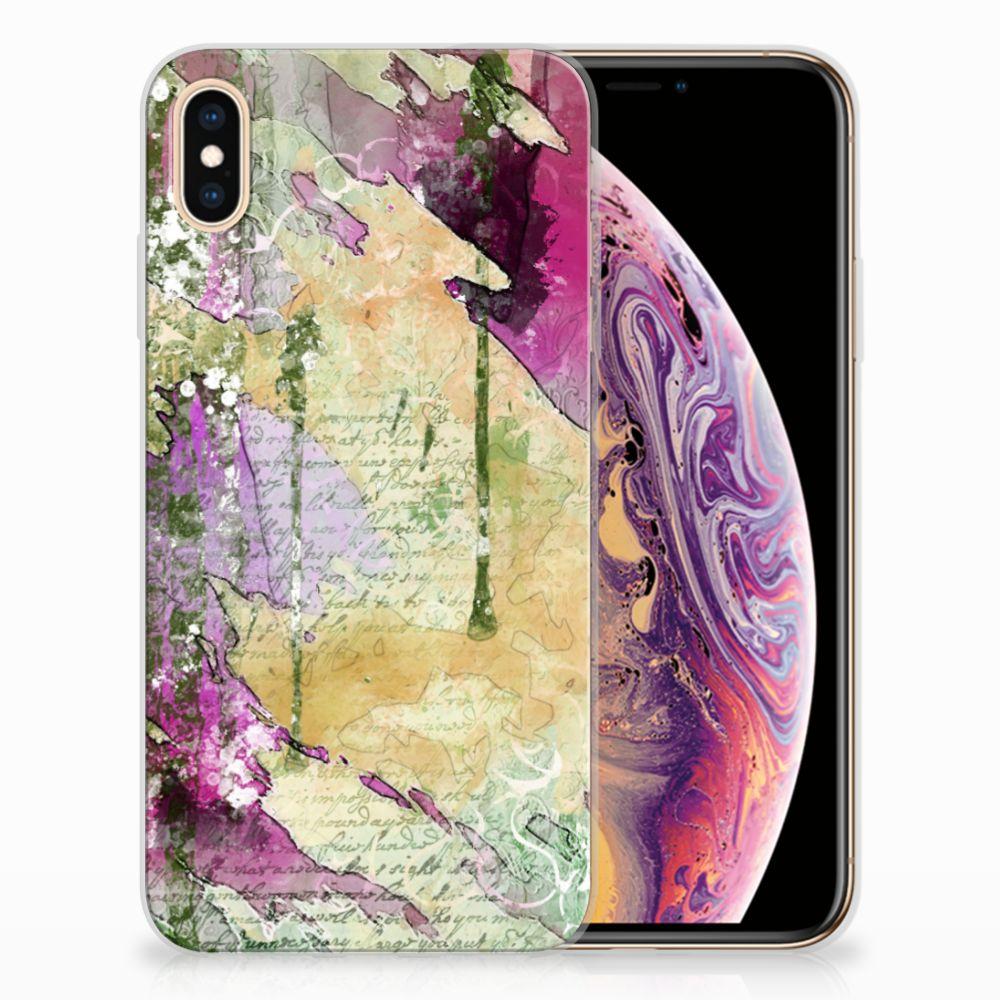 Apple iPhone Xs Max Uniek TPU Hoesje Letter Painting