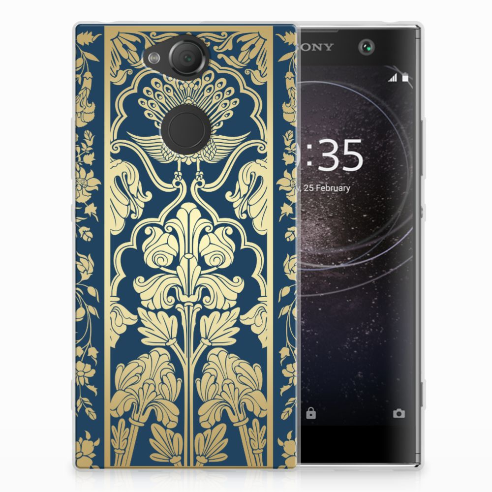 Sony Xperia XA2 TPU Case Golden Flowers