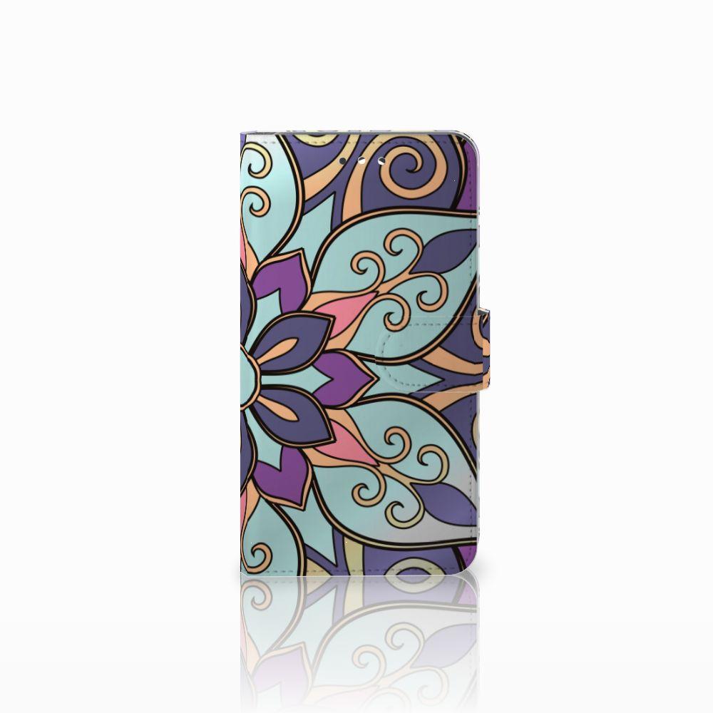 B2Ctelecom Huawei Y7 2017 | Y7 Prime 2017 Boekhoesje Design Purple Flower