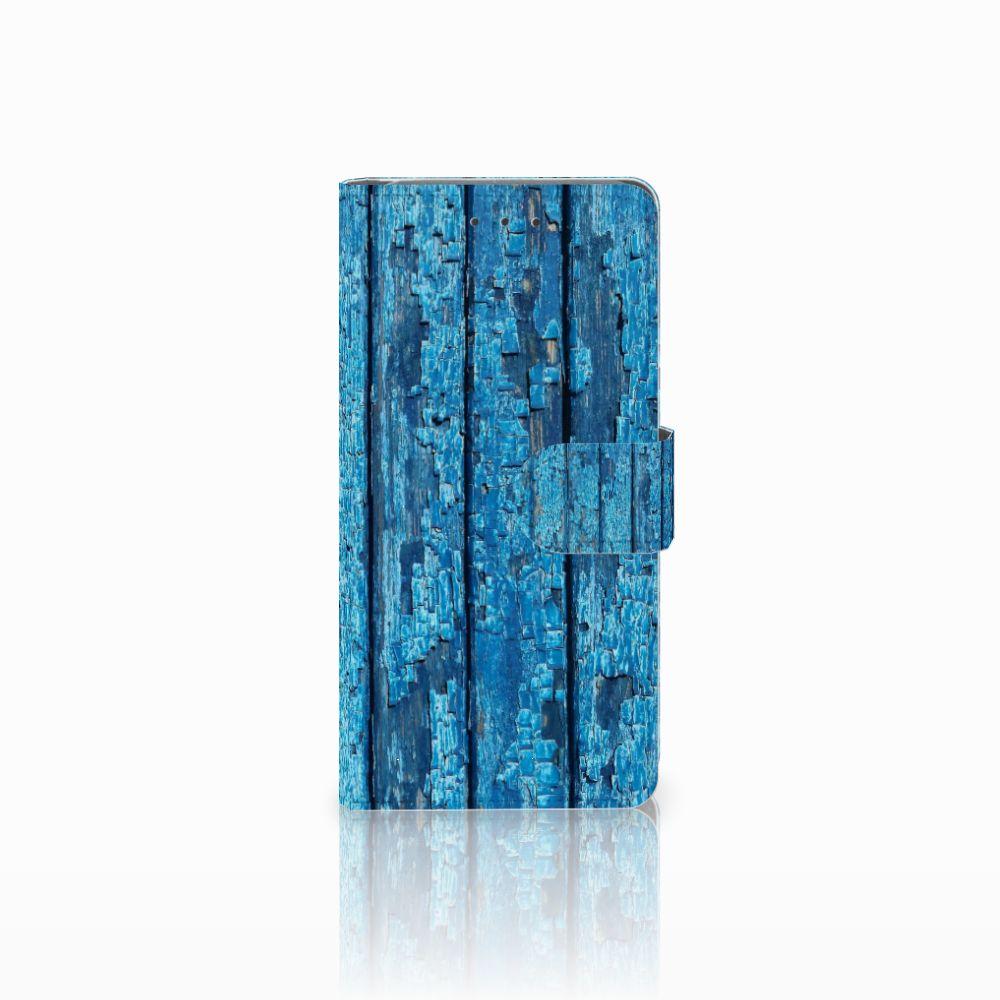 Samsung Galaxy Grand Prime   Grand Prime VE G531F Uniek Boekhoesje Wood Blue