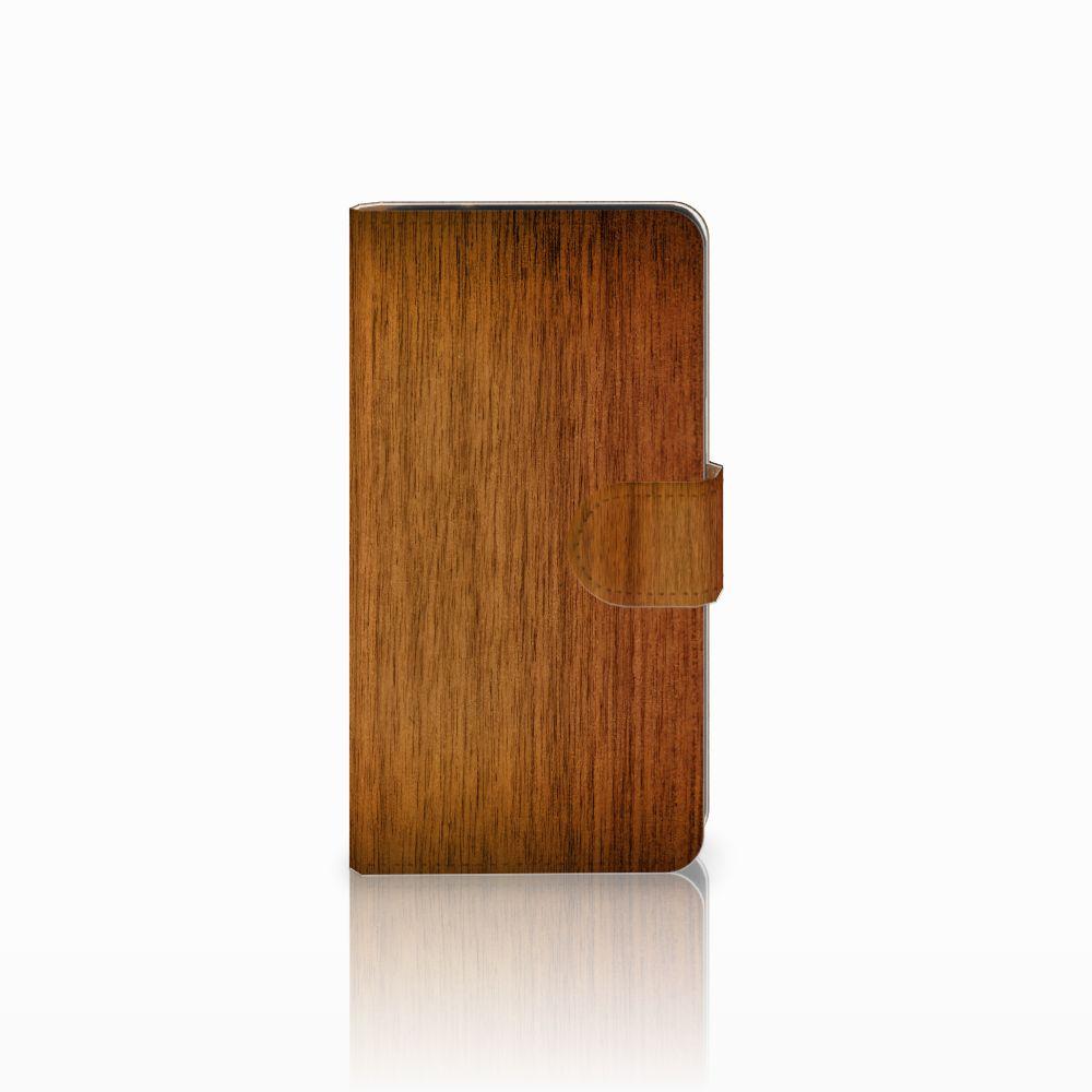 Samsung Galaxy J2 (2015) Uniek Boekhoesje Donker Hout