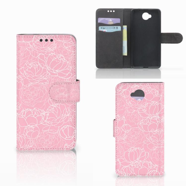 Microsoft Lumia 650 Wallet Case White Flowers
