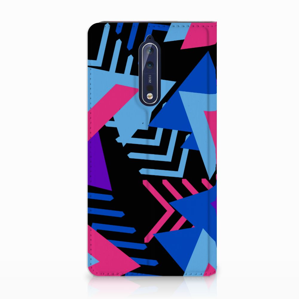 Nokia 8 Stand Case Funky Triangle