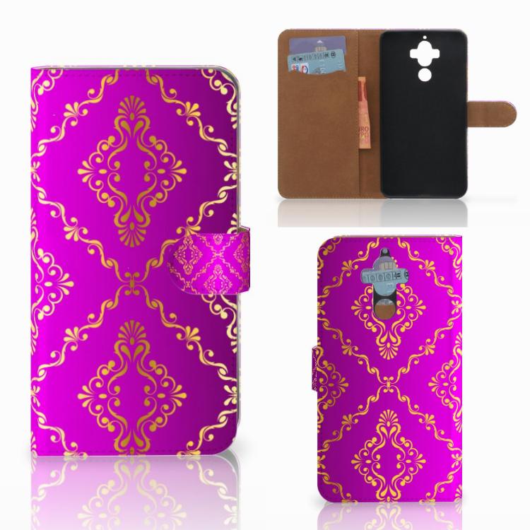 Wallet Case Huawei Mate 9 Barok Roze