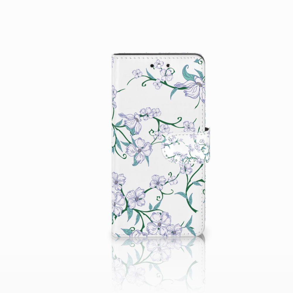 Huawei P8 Lite Smart (GR3) Uniek Boekhoesje Blossom White
