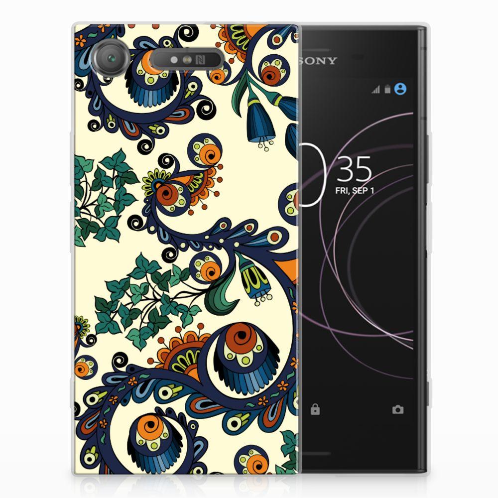 Sony Xperia XZ1 TPU Hoesje Design Barok Flower