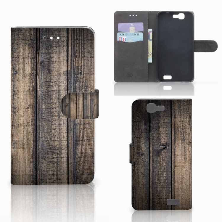 Huawei Ascend G7 Book Style Case Steigerhout