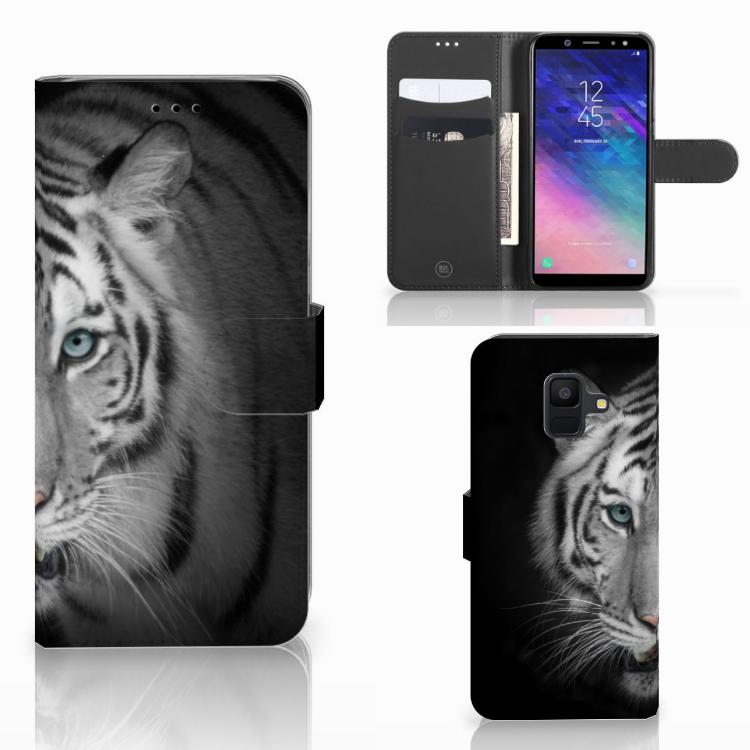 Samsung Galaxy A6 2018 Telefoonhoesje met Pasjes Tijger