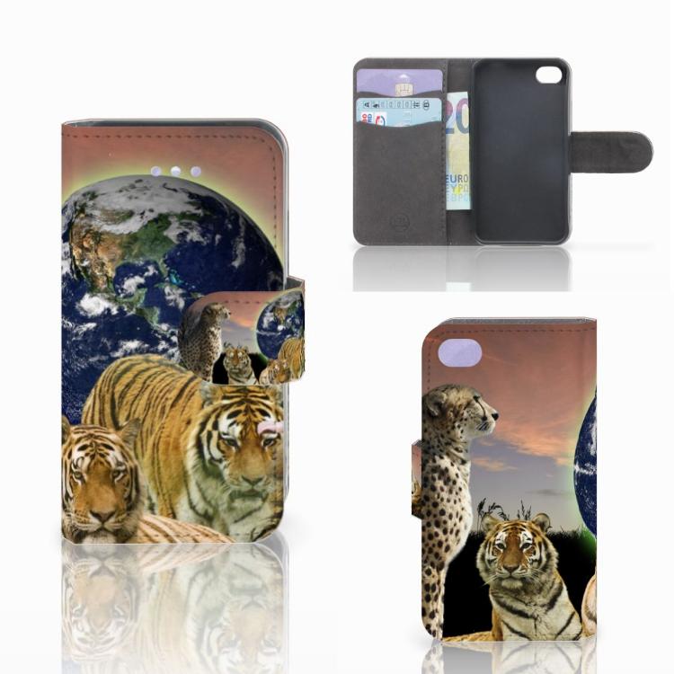 Apple iPhone 4 | 4S Telefoonhoesje met Pasjes Roofdieren