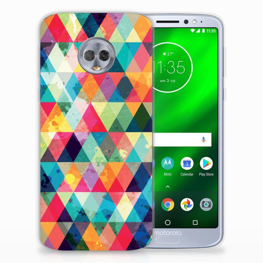 Motorola Moto G6 Plus TPU bumper Geruit