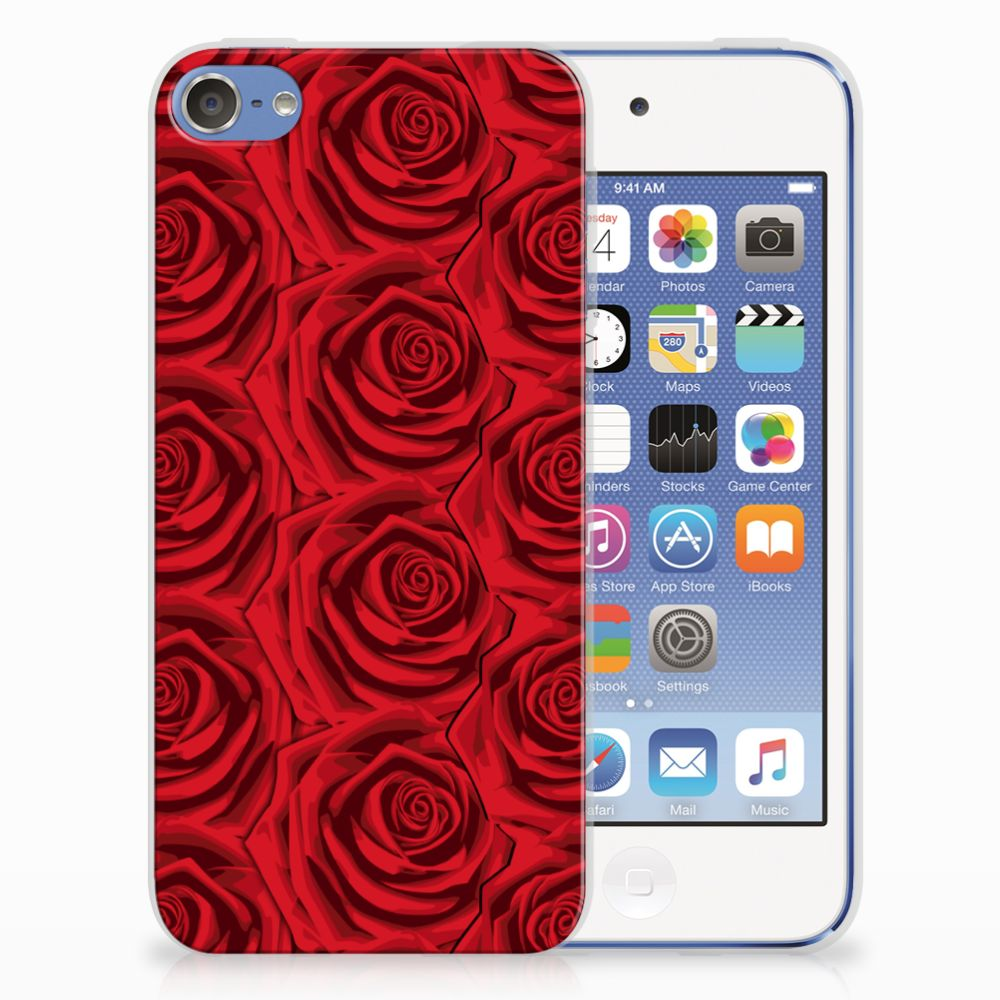 Apple iPod Touch 5 | 6 Uniek TPU Hoesje Red Roses