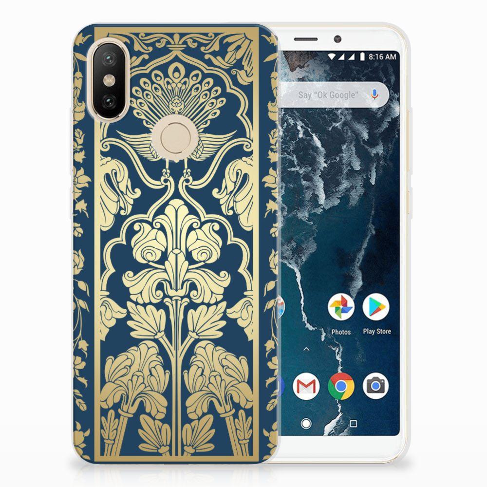 Xiaomi Mi A2 TPU Case Golden Flowers