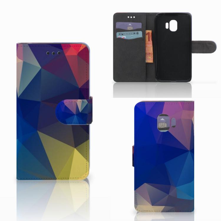 Samsung Galaxy J2 Pro 2018 Bookcase Polygon Dark