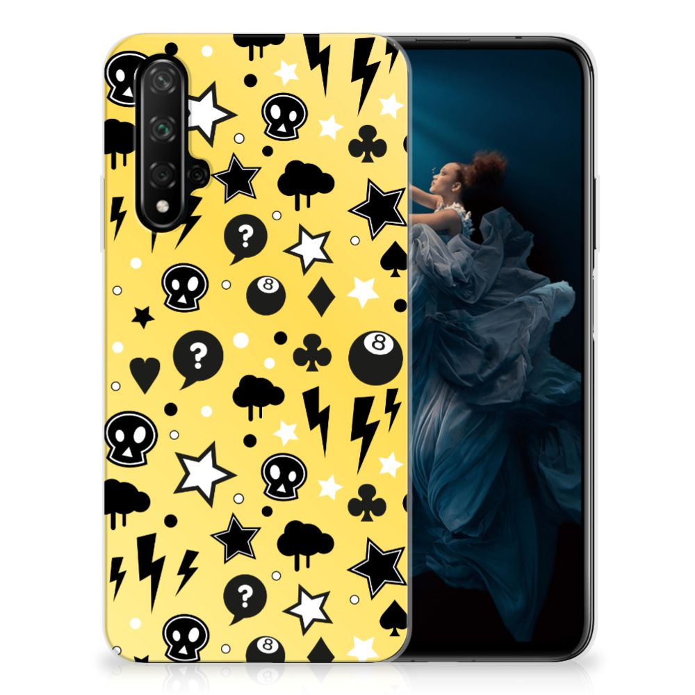 Silicone Back Case Honor 20 Punk Geel