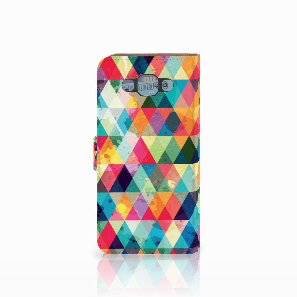 Samsung Galaxy E7 Telefoon Hoesje Geruit