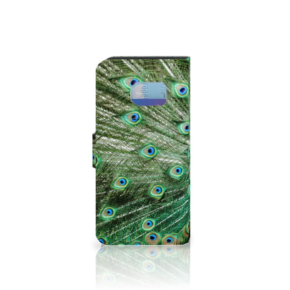 Samsung Galaxy S6 Edge Telefoonhoesje met Pasjes Pauw