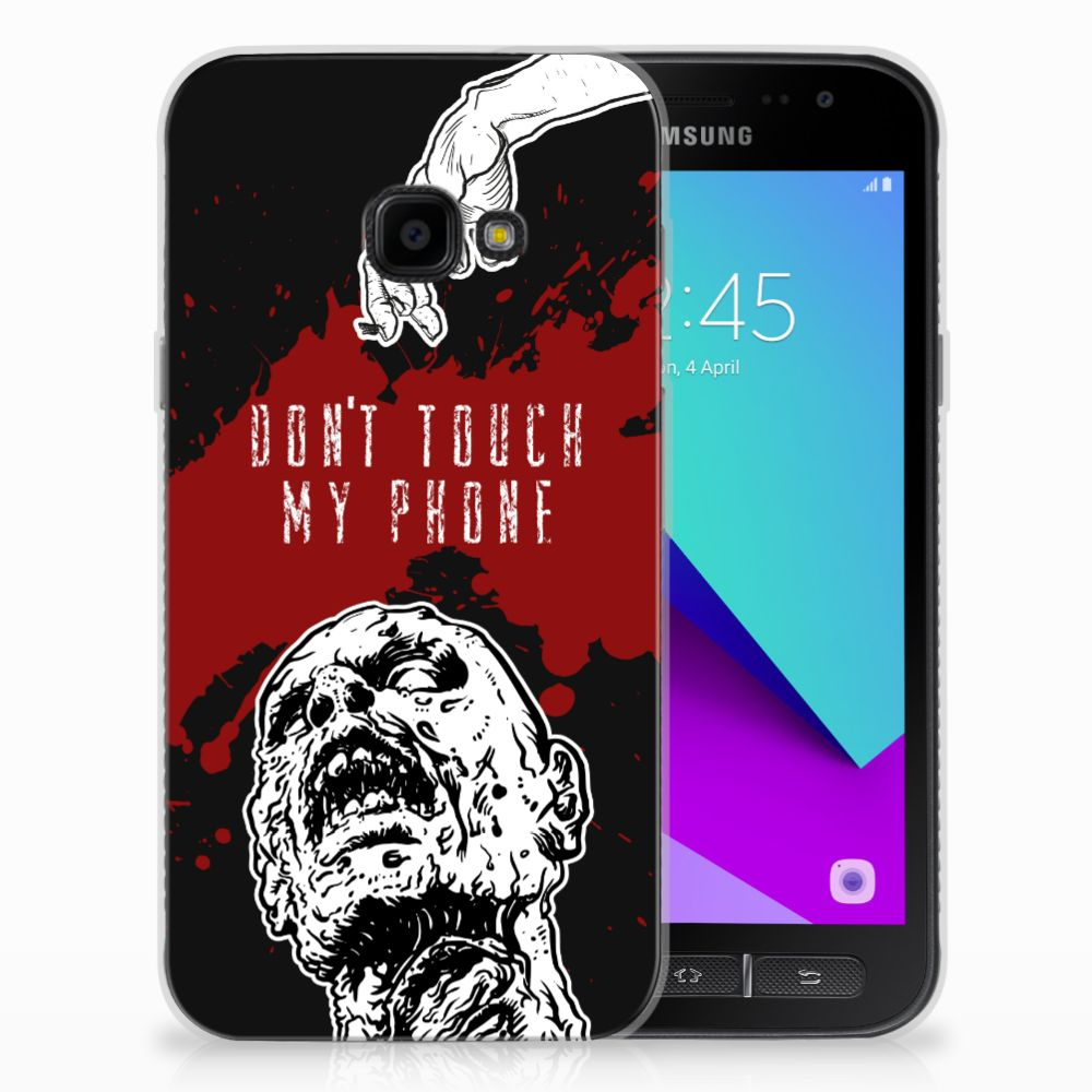 Samsung Galaxy Xcover 4 TPU Hoesje Design Zombie Blood
