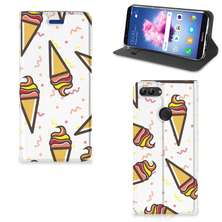 Huawei P Smart Flip Style Cover Icecream